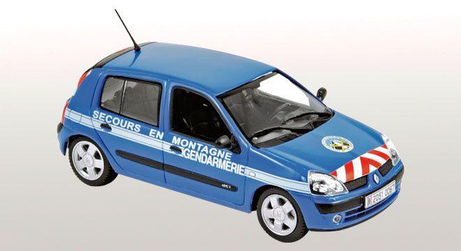 Renault Clio Gendarmerie &quot&#x3B;Secours en montagne&quot&#x3B;au 1/43 (Norev)