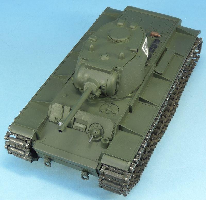 Char lourd soviétique KV-1 au 1/48 (Gaso.Line)