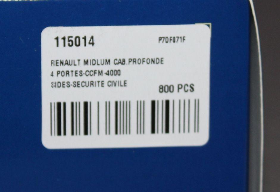 Renault Midlum CCFS 6000, CCFM 4000 et Kerax CCGC 14500 des formations militaires de la Sécurité Civile (Eligor)