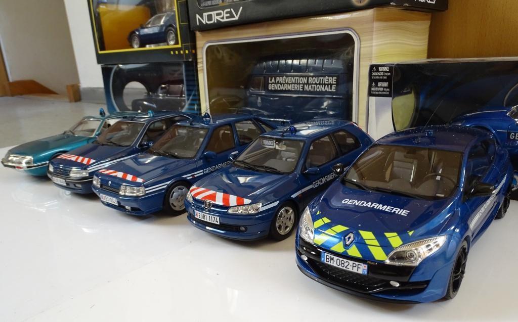 Nos vitrines : les miniatures de Gendarmerie au 1/18 de Guillaume (OttOmobile, Norev...)