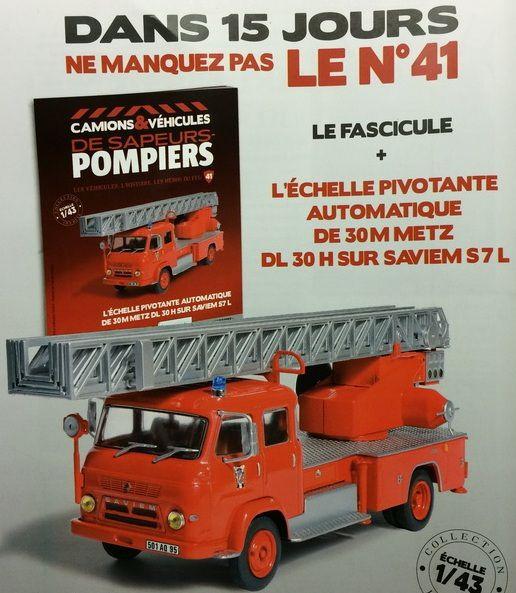 EPA de 30M METZ DL 30 H sur Saviem S7L (Hachette/Ixo)