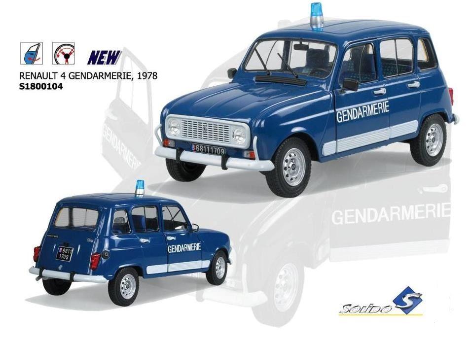 Renault 4 GTL Gendarmerie au 1/18 (Solido)