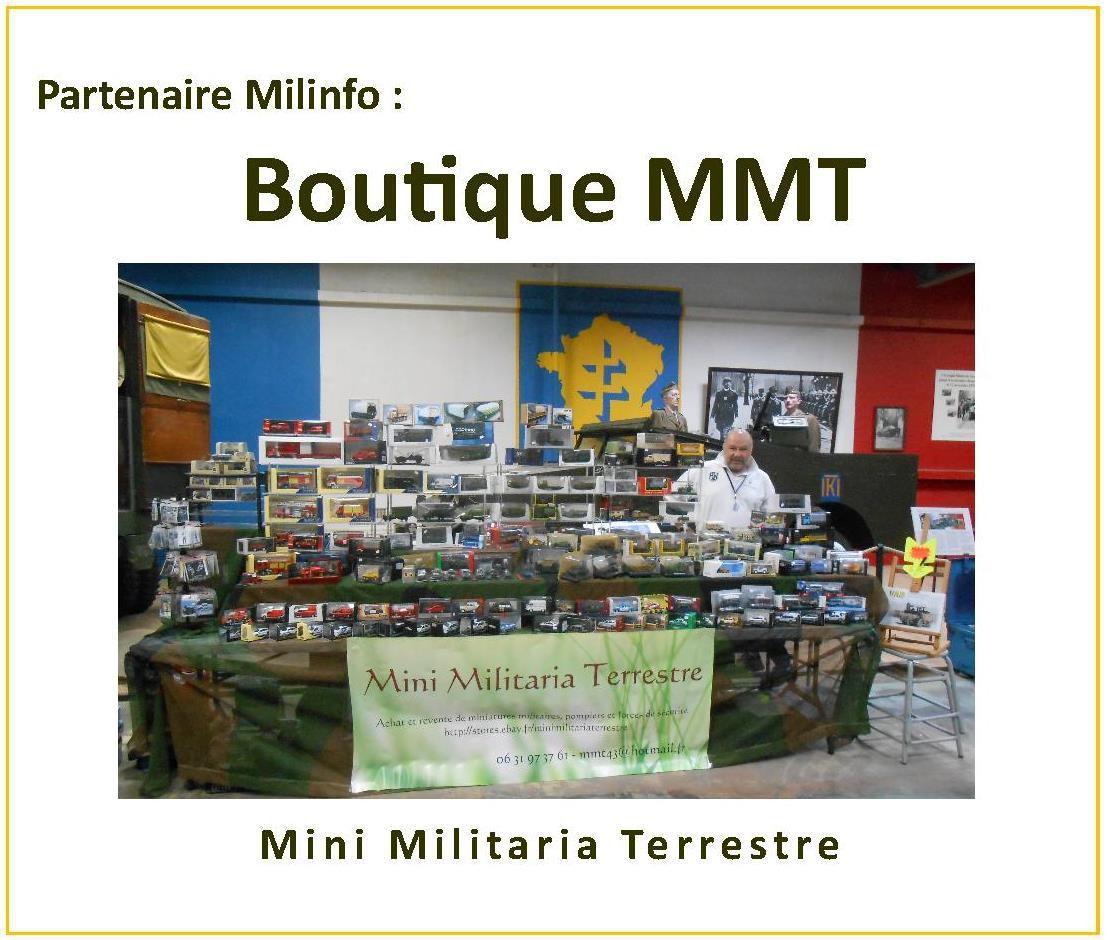 Claude Casotte (MMT) sur son stand lors de la dernière expo au Musée des blindés de Saumur
