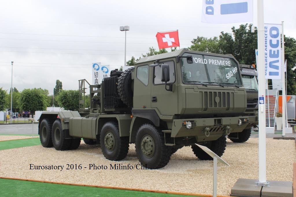 Véhicules et matériels : la gamme militaire Iveco (Eurosatory 2016)