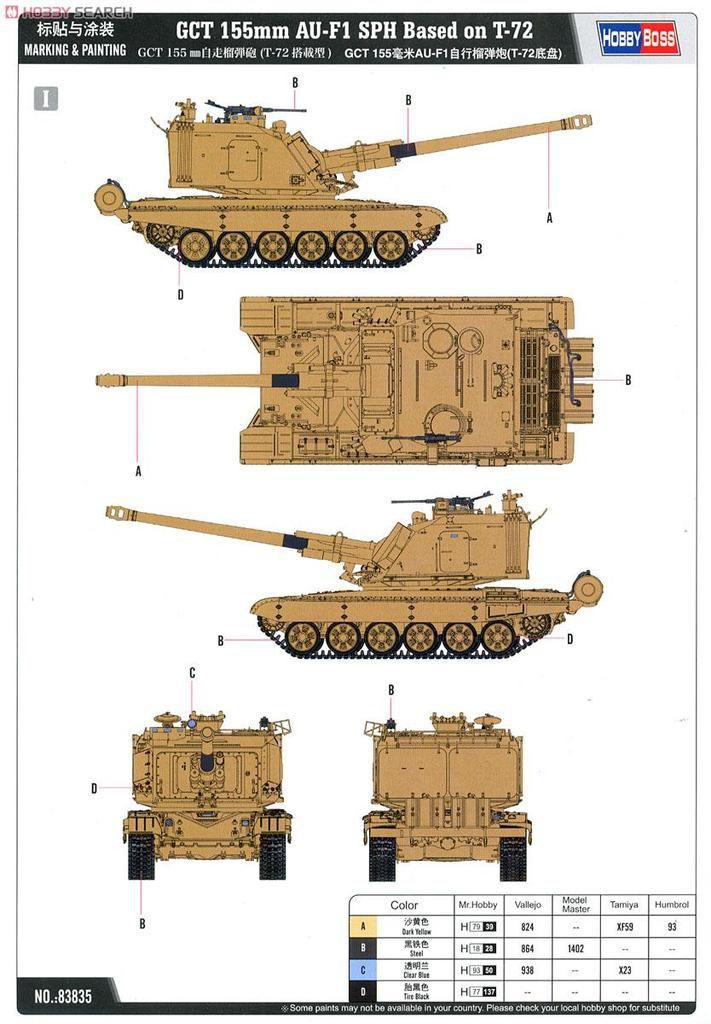 AMX 30B, AMX 30 B2 et AU-F1 au 1/35 (Meng Model et Hobby Boss)