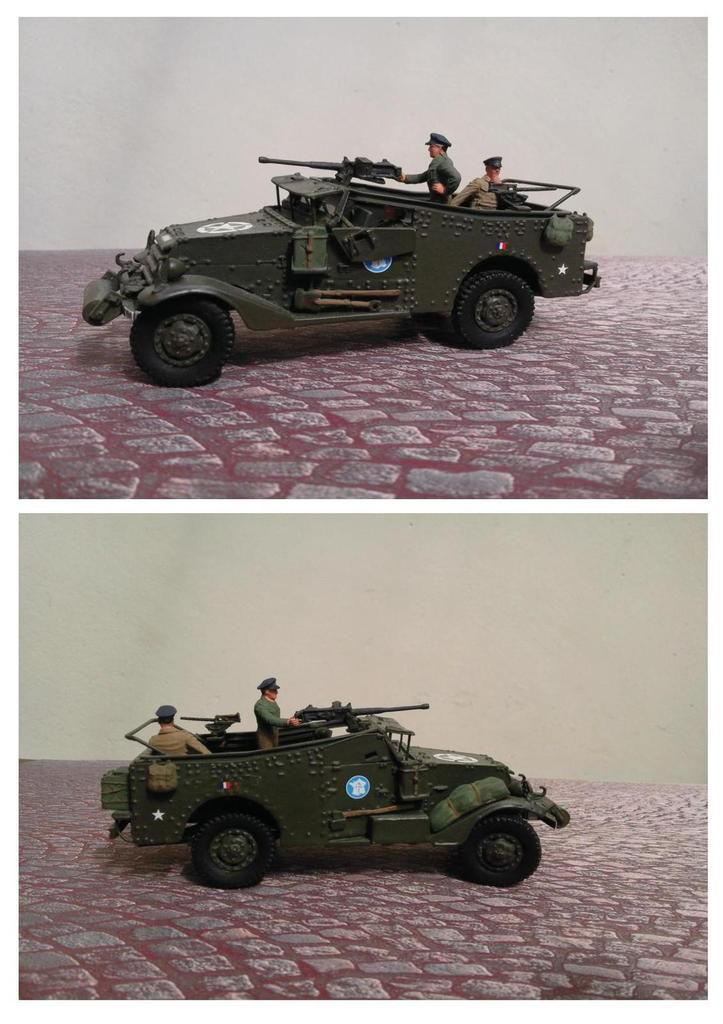 Modif : White scout car &quot&#x3B;Ondine&quot&#x3B; au 1/43