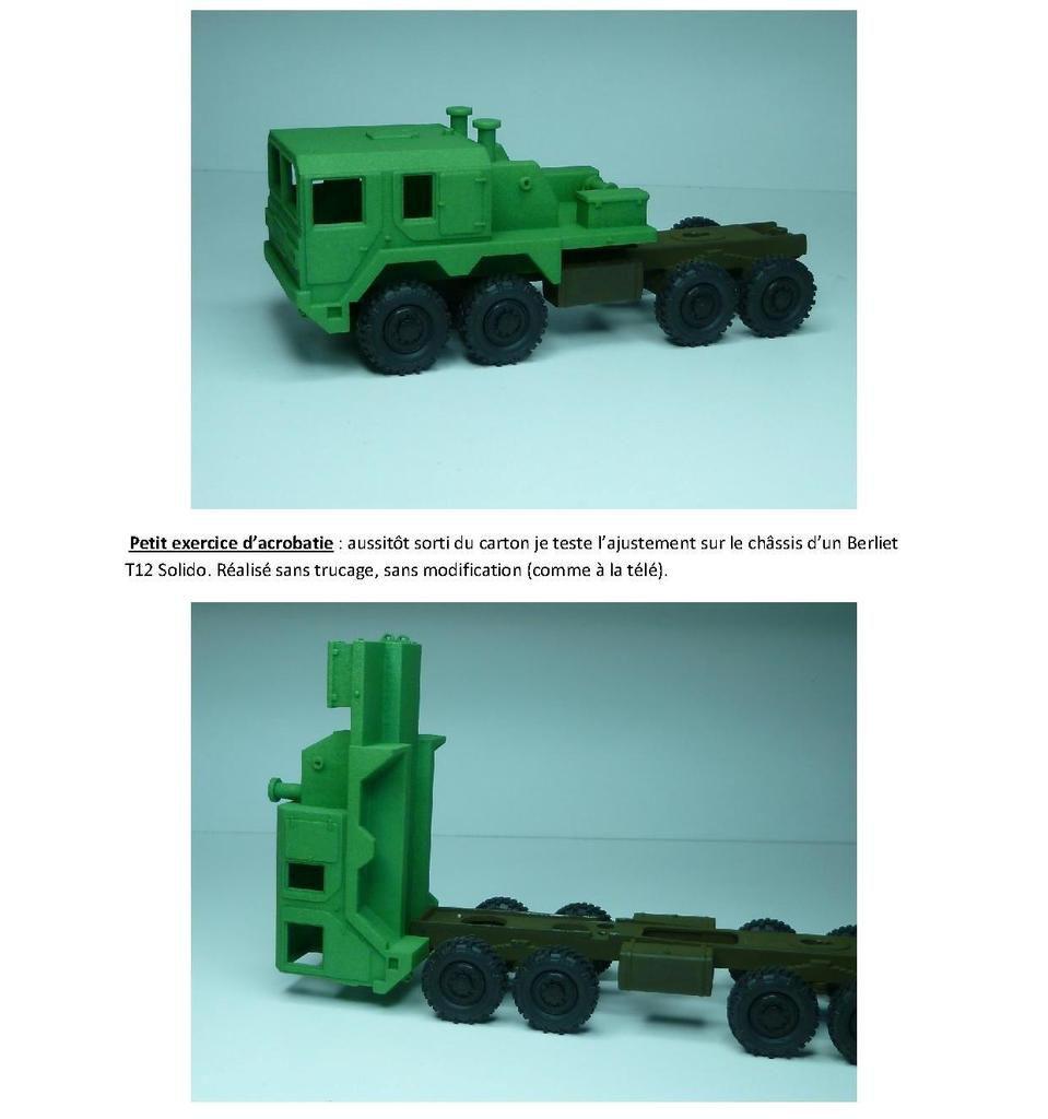 Techniques et conseils : Tracteur MAN 8x8 au 1/50 en impression 3D (par Jean-Charles)