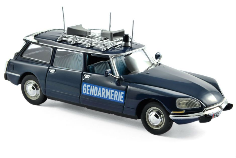 Citroën DS 21 break Gendarmerie  au 1/43 (Norev et Solido)