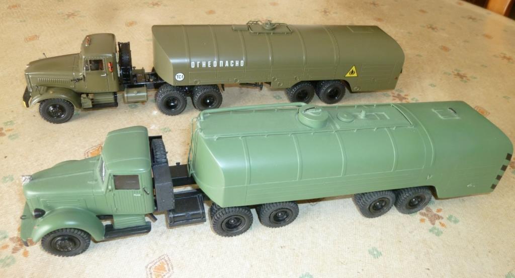 YAZ 210 (Kimmeria) et Kraz 258 (SSM) avec semi-remorque citerne TZ-22 au 1/43