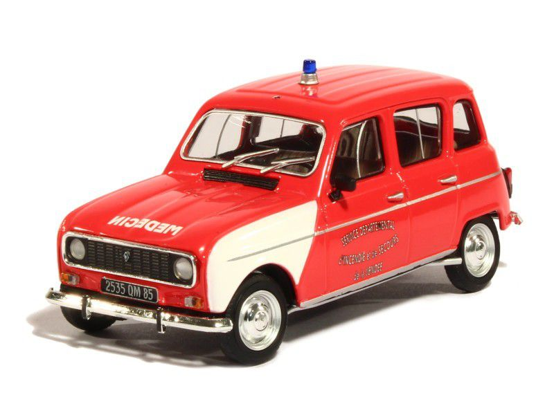 renault 4l gendarmerie et pompiers au 1 43 eligor. Black Bedroom Furniture Sets. Home Design Ideas