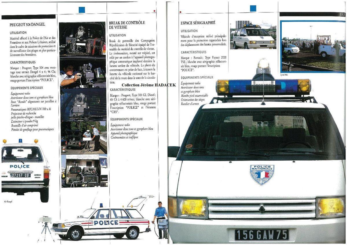 Véhicules &amp&#x3B; matériels : la gamme Renault-Police en 1990...