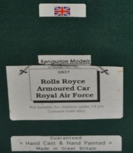 Collector : automitrailleuse Rolls Royce au 1/48 (Bengurion Models)