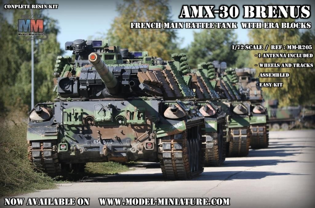 Chars AMX-30 Brenus au 1/72 (Model-Miniature)