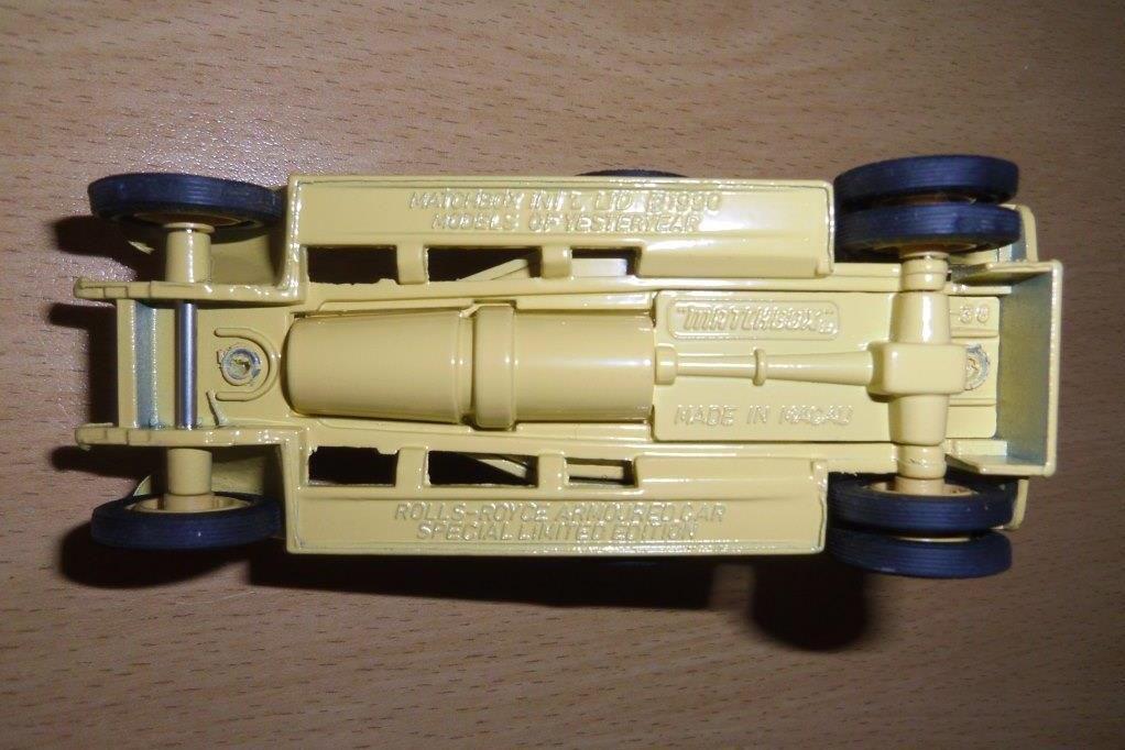 Collector : Automitrailleuse Rolls Royce MK 1 modèle 1920 au 1/50 (Matchbox)