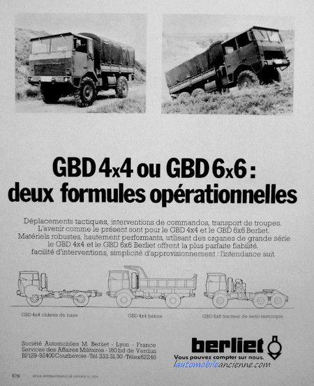 Berliet GBD 4x4 FPT HR au 1:43 (Hachette/Ixo)