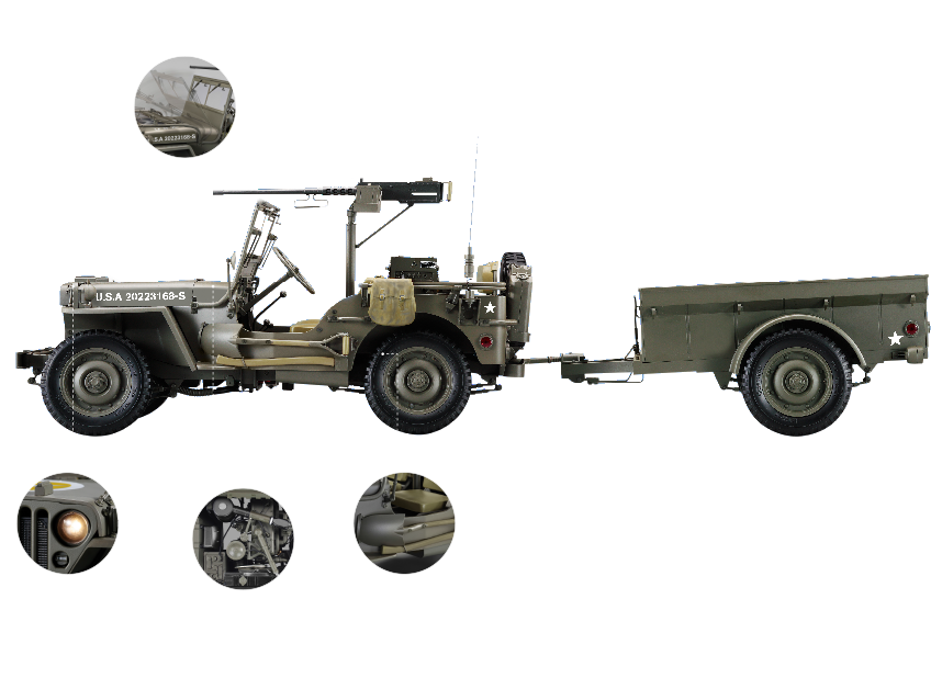 Jeep Willys MB au 1/8 (Hachette/Ixo)