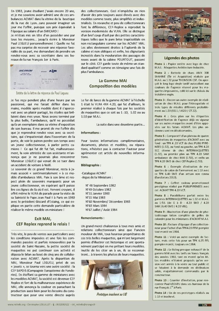 Milinfo-Focus HS n° 3 : ACMAT vu M.A.I. (1ère partie)