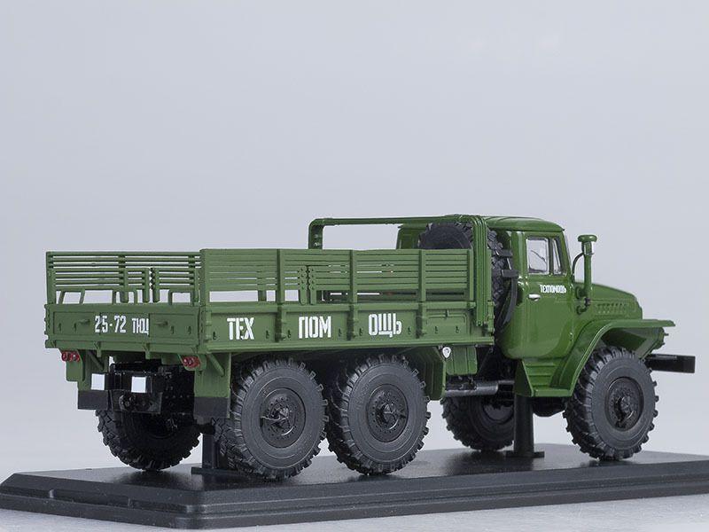 SM1055 URAL-375D flatbed truck /khaki/
