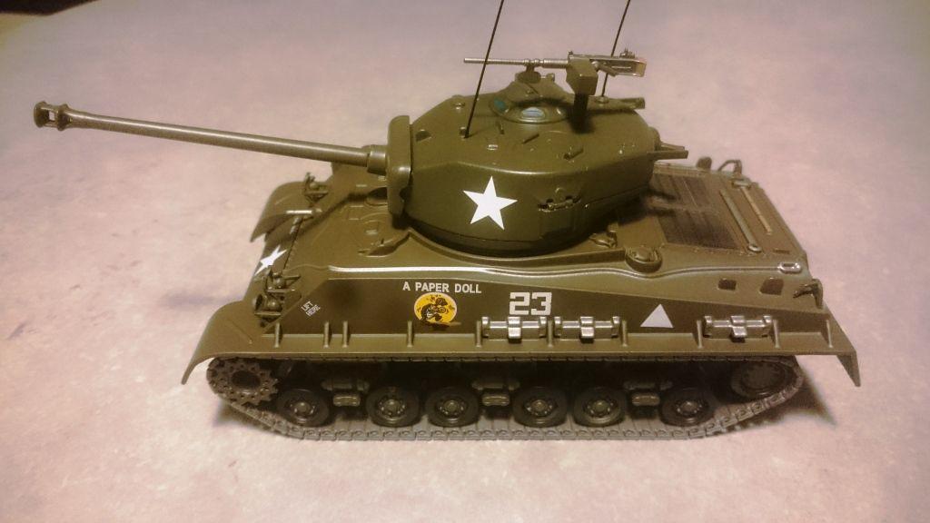 Sherman HVSS au 1/43 (Altaya/Ixo) et modif sur Sherman Corgi