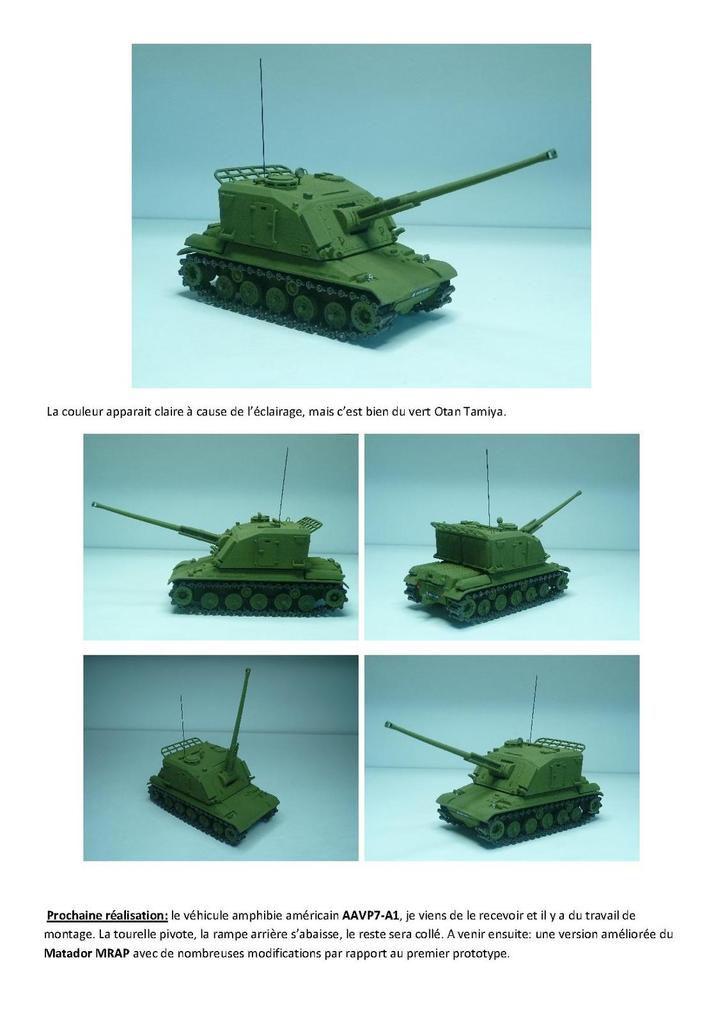 Impression 3D : AMX-30 AU-F1 au 1/50 (par Jean-Charles)