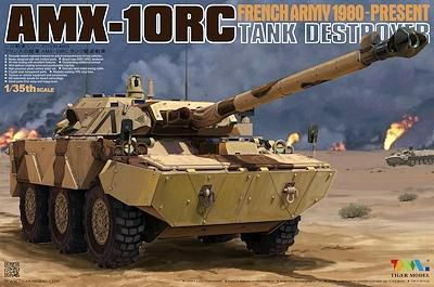 AMX-10 RC, VBL et ERC-90 Sagaie au 1/35 (Tiger Model et kit KMT)