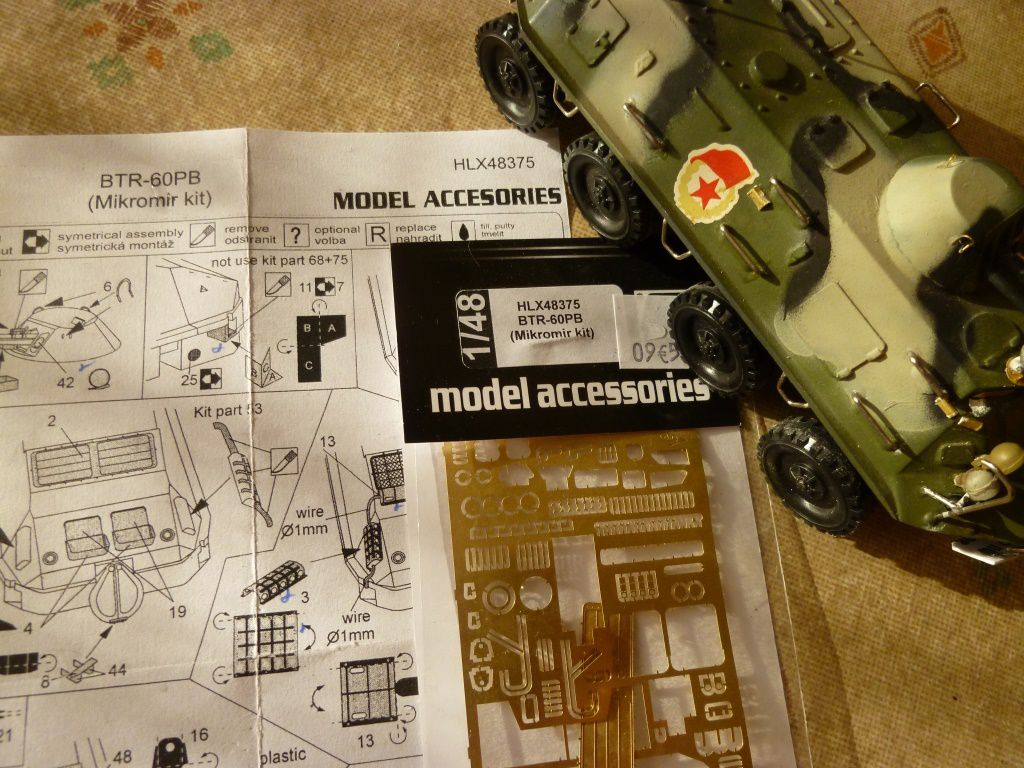 Le BTR 60 avec le kit d'améloration-détaillage