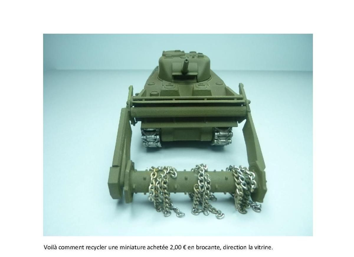 Sherman CRAB en impression 3D au 1/50 (par Jean-Charles)