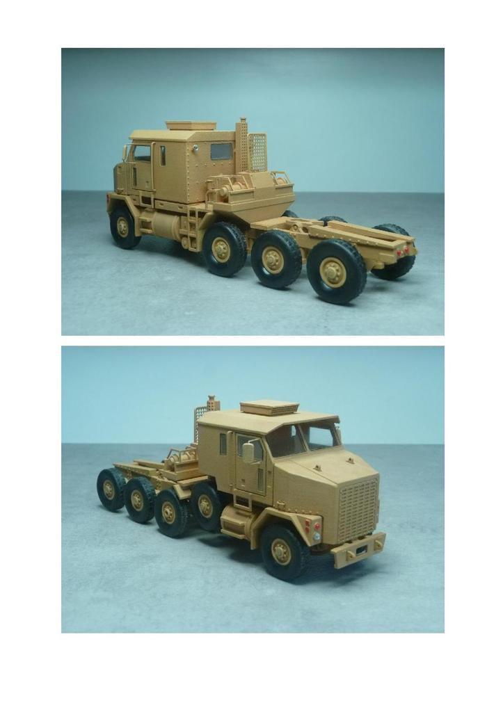 Porte-char Oshkosh HET M1070 au 1/50 en impression 3D (par Jean-Charles)