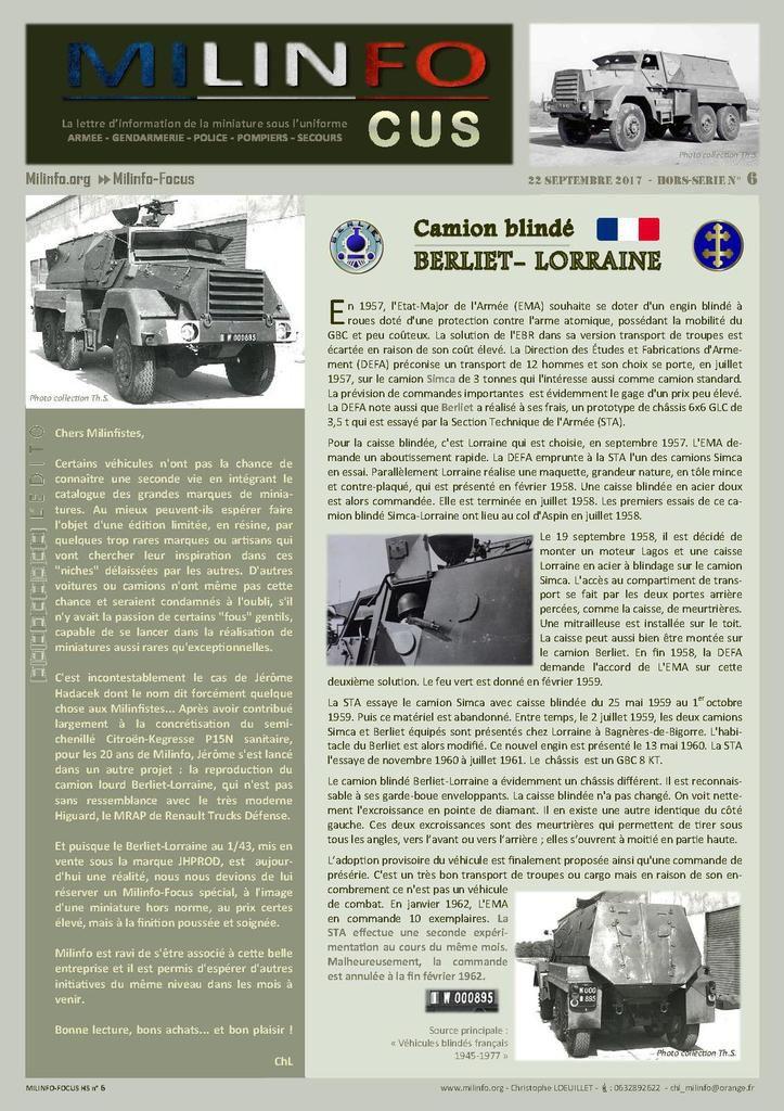 Camion blindé Berliet-Lorraine au 1:43  (JHPROD)