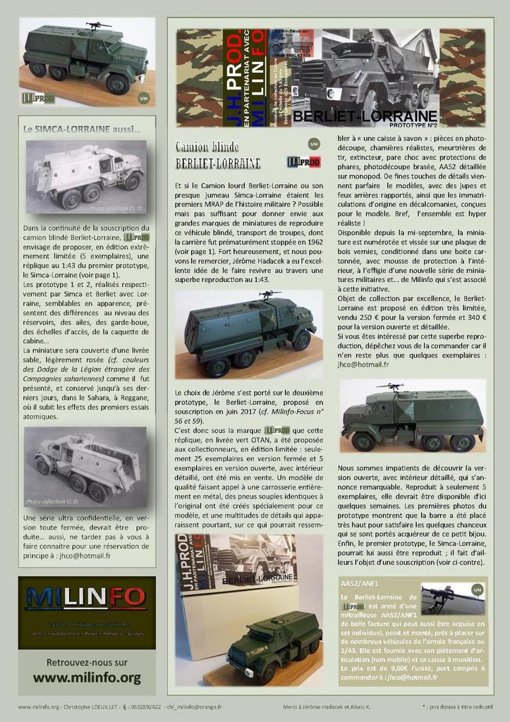 Milinfo-Focus HS n° 6 : le camion blindé Berliet-Lorraine au 1:43 (JHPROD)