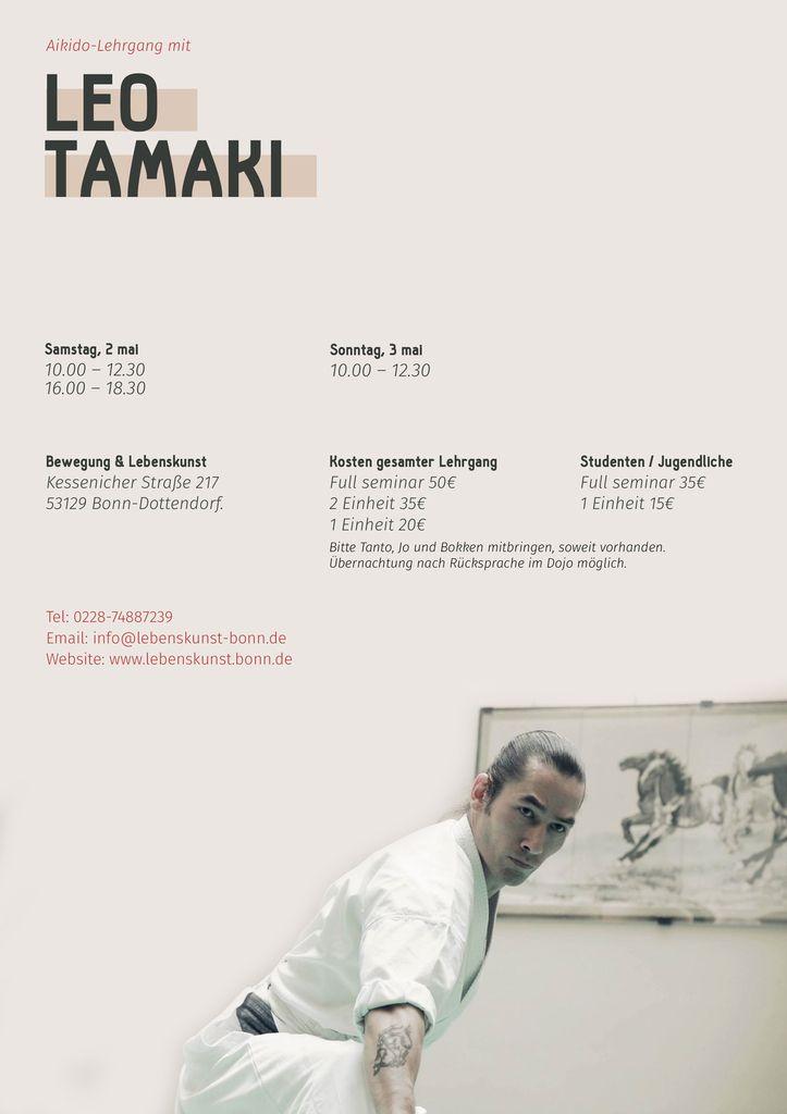 Léo Tamaki à Bonn (Allemagne), 2 et 3 mai
