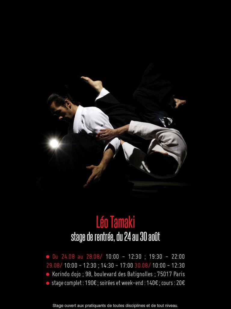 Stage de rentrée à Paris avec Léo Tamaki, 24 au 30 août
