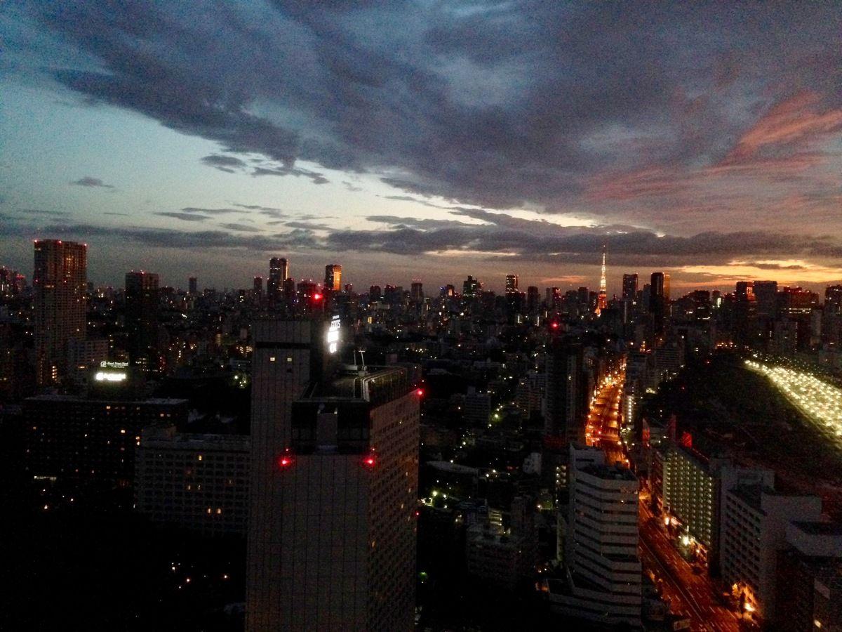 Vue de la chambre d'hôtel à Tokyo, le Japon moderne