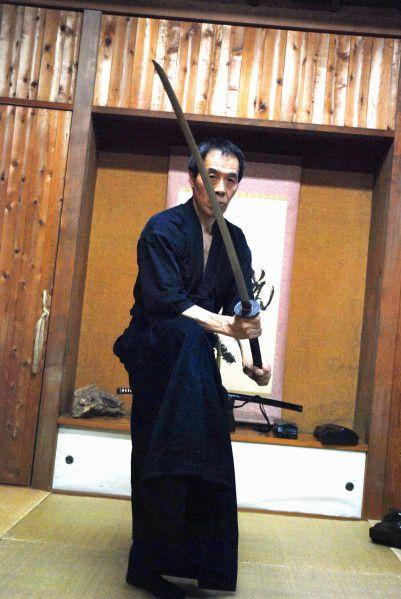 Kono Yoshinori dans son dojo