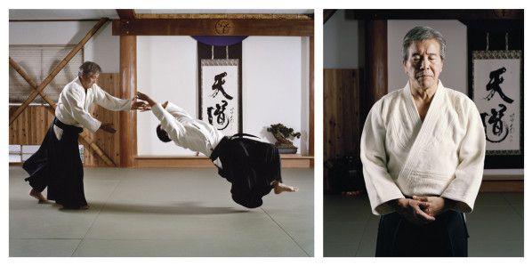 Shimizu Kenji dans son dojo, le Tendokan