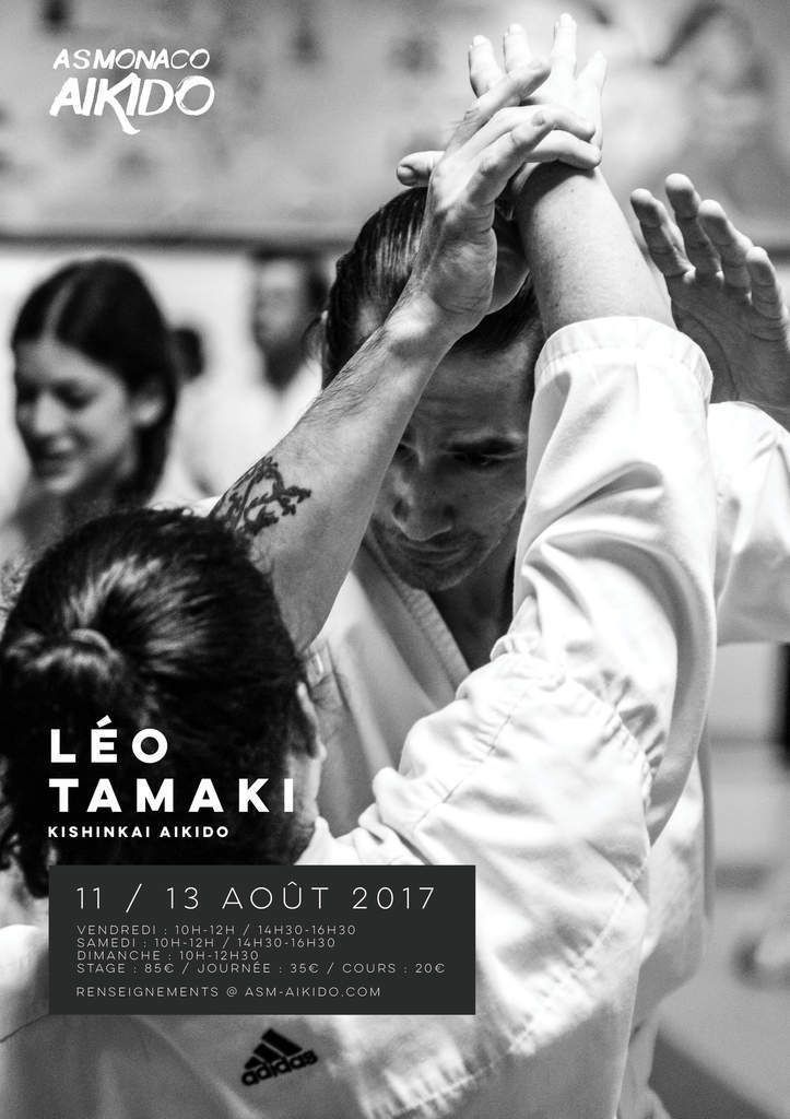 Léo Tamaki, vidéo extrait stage Aïkido Monaco 2017