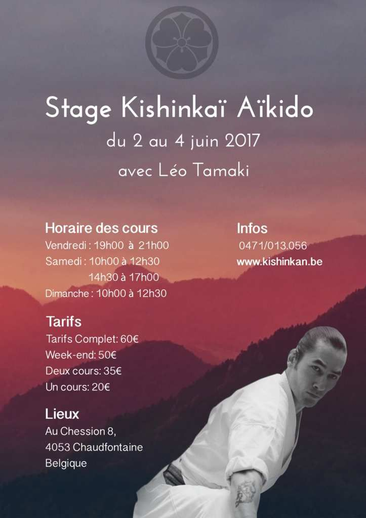 Léo Tamaki à Liège, 2 au 4 juin