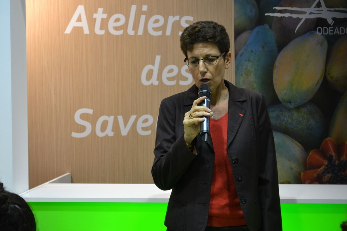 Isabelle Chmitelin, directrice de l'ODEADOM, lundi au salon de l'agriculture de Paris