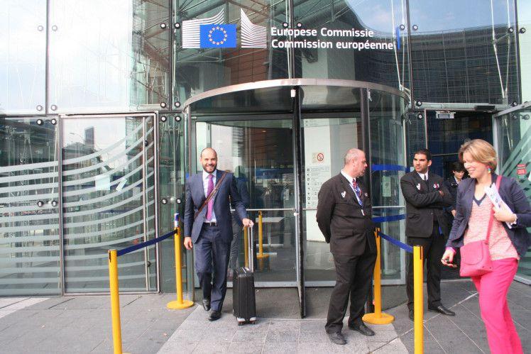 L'entrée du bâtiment de la Commission européenne à Bruxelles