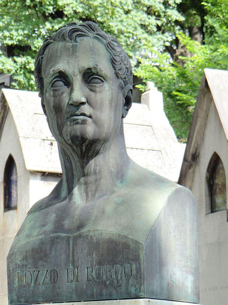 Buste de Charles-André Pozzo di Borgo au Cimetière du Père-Lachaise