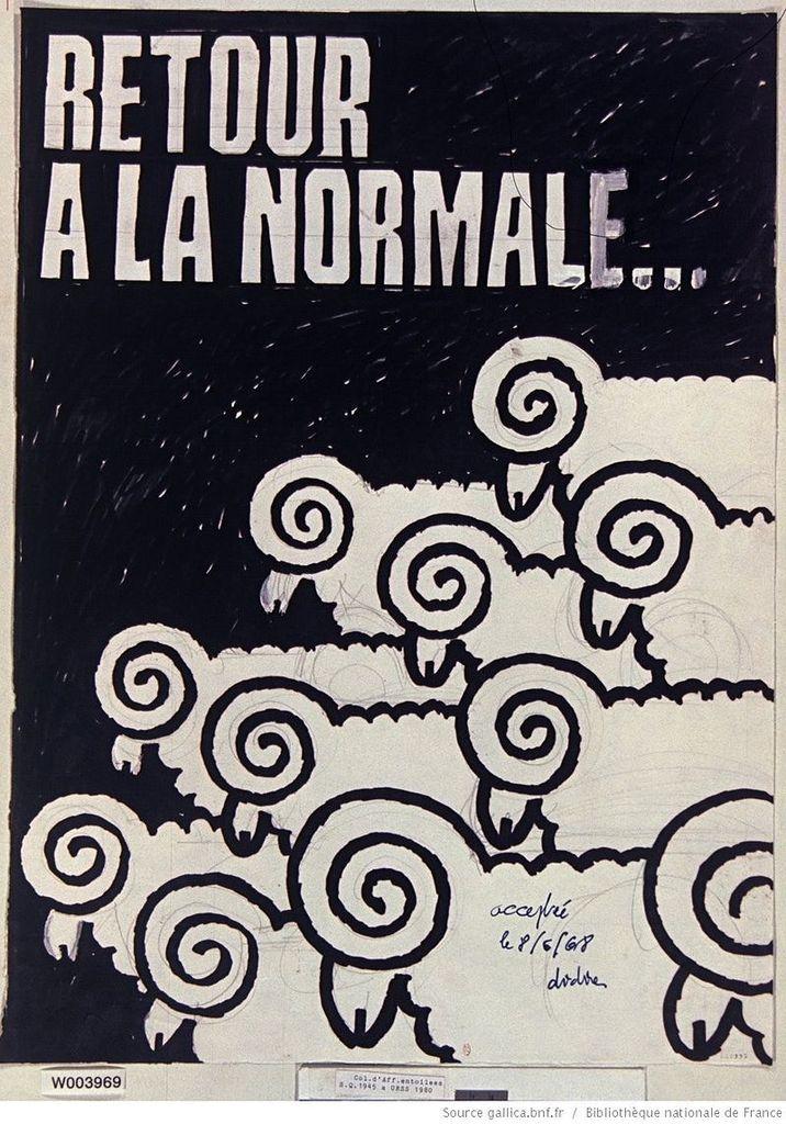 Dans ses vœux du 31 décembre 68 De Gaulle exhortait les Français : « Portons donc en terre les diables qui nous ont tourmentés pendant l'année qui s'achève ».