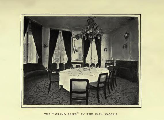 """Le """"Grand Seize"""" où le festin des trois empereurs fut donné en privé... Photographie 1912"""