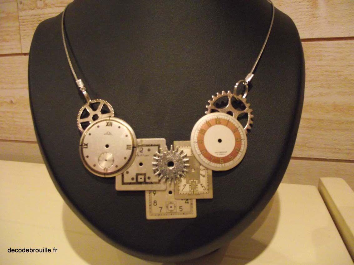 Fabriquer des bijoux avec des cadrans de montres (1)