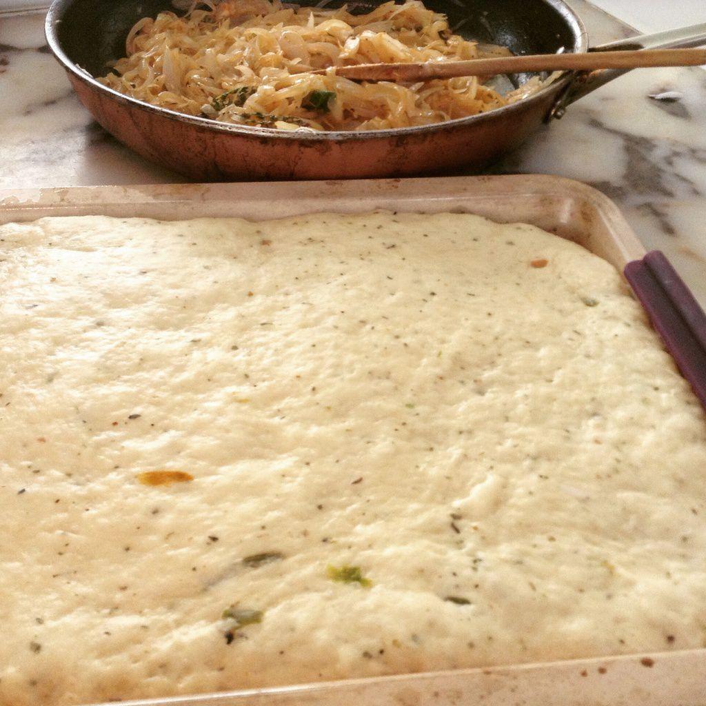 Pains aux oignons خبز بالبصل