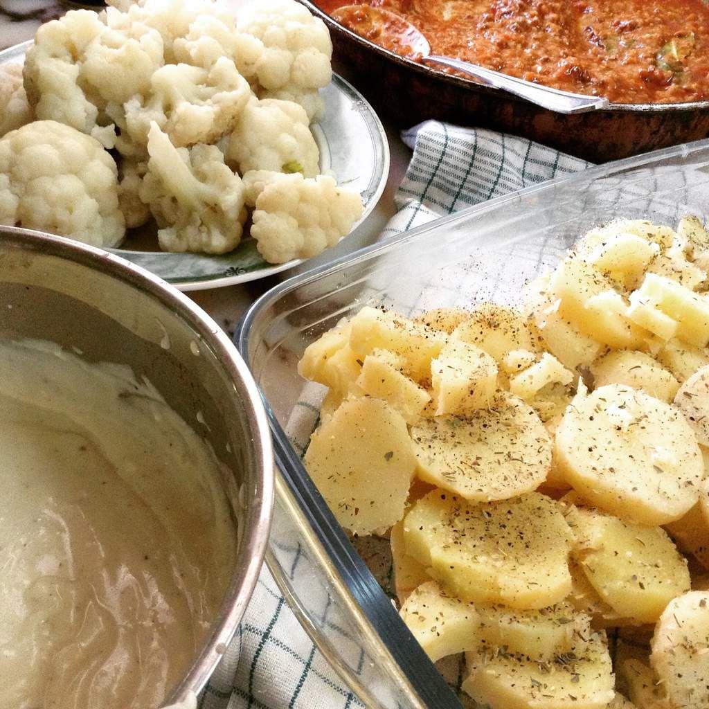 Gratin de choux fleurs et pommes de terre