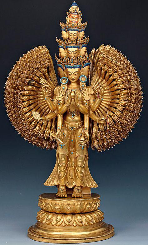 Tibet - Avalokiteshvara - XVIIIe