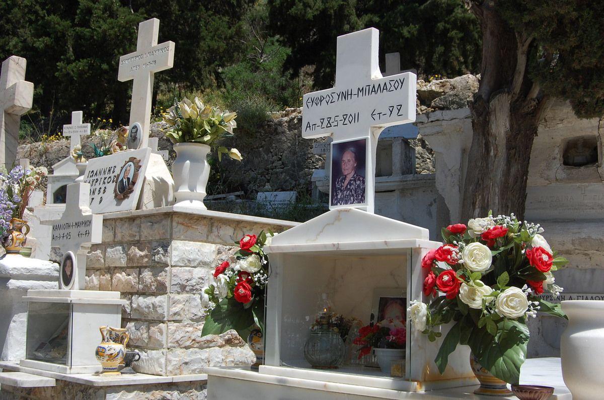 Grèce - Skyros - Cimetière  - Photos: Lankaart (c)