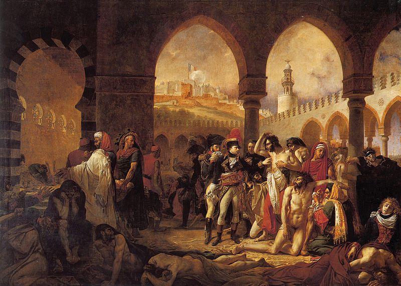 Bonaparte visitant les pestiférés de Jaffa, Jean Gros, 1804