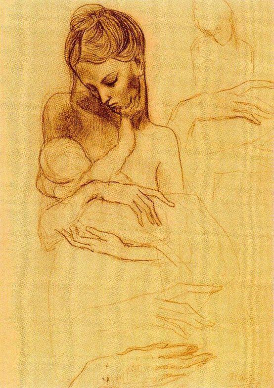 Picasso - Maternité - Dessin