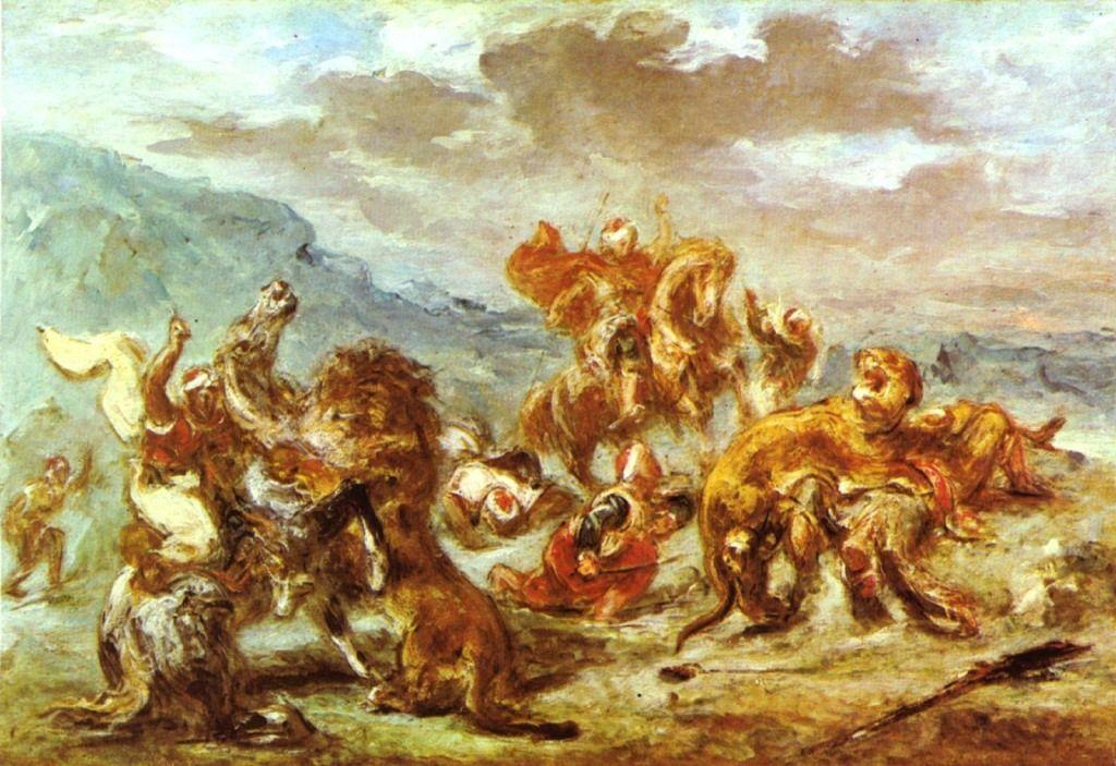 Delacroix, Chasse au lion